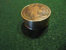 UNIQUE HANDCRAFTED FRANCE 1910S 5 CENTIMES COPPER COIN SNUFF BOX/ PILL BOX