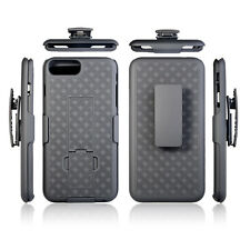 iPhone 7 Plus 8 Plus 5.5 inch Rugged Slide Belt Clip Holster Case Cover w stand