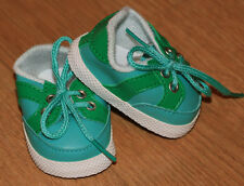 New Turquoise Vinyl Sneakers Fit American Girl, Bitty Baby & Similar-sized Dolls
