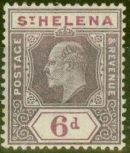 St Helena 1908 6d Dull & Dp Purple SG67 Fine Very Lightly Mtd Mint