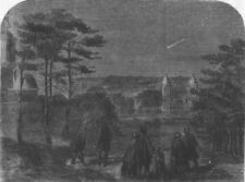 LONDON. Donati's comet, as seen from Greenwich Park, antique print, 1858