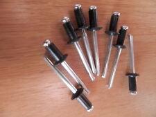 100 Stück Blindniete 4x10 Popnieten Alu/Stahl RAL9005 SCHWARZ