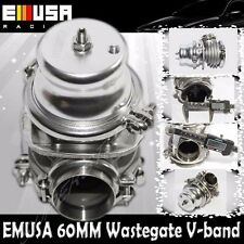 Emusa 60MM Vband Wastegate SILVERTurbo Acura Integra BMW Audi Honda Accord Civic
