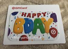 TARGET 2016 GIFT CARD HAPPY BDAY RAINBOW BALLOONS NO VALUE NEW