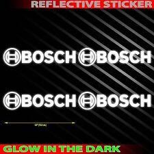 """*4.0""""X4PC. BOSCH REFLECTIVE LIGHT DECAL STICKER DIE CUT NO BACKGROUND"""