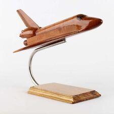 INMO Natural Mohogany Wood Orbiter Model Airplane