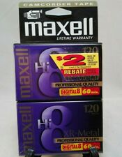 2 Maxell Hi8 Video Camcorder Blank Tapes Xr-Metal Professional Quaity
