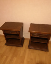 2 bedside tables A