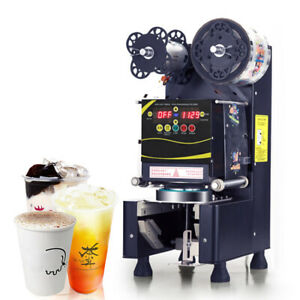 Fully Automatic Coffee Bubble Tea Cup Sealing Machine Paper Cup Plastic Cup
