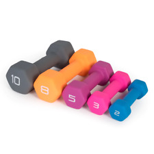 Cap Hex Neoprene Dumbbells Weights - 3LB 5LB 8LB 10LB 12LB pick your own bundle