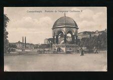 Turkey CONSTANTINOPLE Fontaine de l'Empereur Guillaume II c1900/10s? PPC