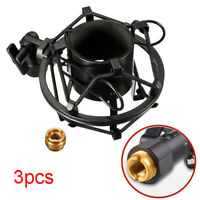 """3pcs Portable 3/8"""" To 5/8"""" Mic Microphone Thread Stand Adaptor Mount Screw ♫"""