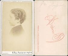 Disdéri, Paris, Louis-Napoléon Bonaparte, Prince impérial Vintage CDV albumen ca