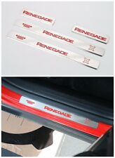 For Jeep Renegade 2015 2016 2017 Stainless steel Door sills Guards Plates Red