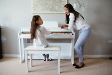 More details for sulinda digital piano in polished glossy white, classic style and elegance