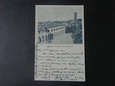 CARTOLINA LECCO MERATE COLLEGIO MANZONI VIAGGIATA DEL 1900 SUBALPINA AAA