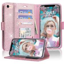 Premium PU Leather+TPU Inner Shell Flip Case Luxury Bling Cover for iPhone 7 8