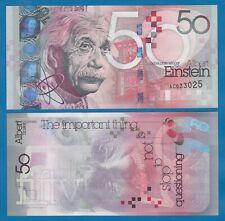 TEST NOTE Albert Einstein 50 ND 2021 UNC Thomas De La Rue issue Nobel Prize Win.