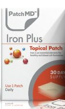 PatchMD Iron Plus Topical Patch vitamin Supplement 30 Day Patch-MD Ex 2022