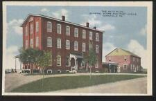 1910s POSTCARD VERNFIELD PA/PENNSYLVANIA POST OFFICE & CLOTHING FACTORY