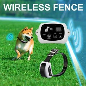 Wireless Pet Electronic Fence Remote Control Waterproof Rechargeable for Dog
