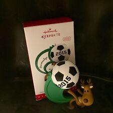 Hallmark 2015 Keepsake Ornament Soccer Star New Open Box