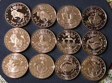 SET OF 12 1 OZ COPPER ROUNDS - ASTROLOGICAL ZODIAC SIGNS