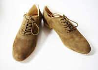 Noe Women Suede Leather Lace-Up Oxford Shoes Tan Brown