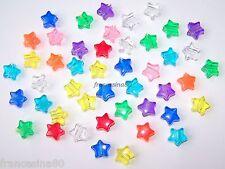 16 perle forma Stella misura 13mm vari colori forate per bigiotteria