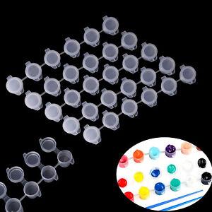 10 Strips 60 Pots Mini Empty Paint Strips Paint Cup Pots Storage Containers-