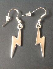 David Bowie's Lightening BOLT Earrings on 925 Silver Hooks