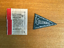 Egyptienne cigarettes leather pennant Columbia University