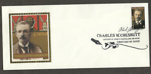 US #4222, Charles W. Chesnutt, first day cover. Black Heritage first day 2008
