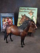 **JUSTIN MORGAN** Breyer horse model, w/Lovely HARDCOVER book... SIGNED & DVD!