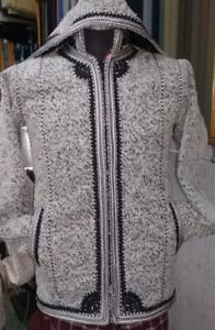 Moroccan jacket with wool, handmade