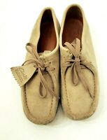 Clarks Originals Wallabee 35395 Sand Suede Crepe Sole Desert Shoes Women's 8 M