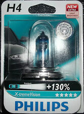 PHILIPS H4 XTREME VISION UPGRADE BULB SINGLE H4 X-TREME VISION H4+130%MORE LIGHT