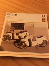 Moto Guzzi GAletto 160 et 200 1950 et 1961 Carte Collection moto Atlas Italie