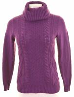 NEW YORK & COMPANY Womens Roll Neck Jumper Sweater Size 6 XS Purple  NR05