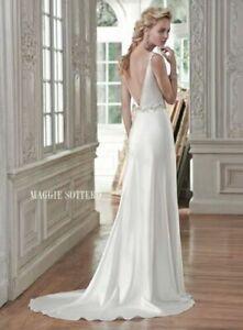 Maggie Sottero Montana Satin wedding gown Dress sz. 4