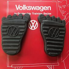 VW Foot Brake & Clutch Pedal Pad Cover Set dune buggy oval hoodride volksrod