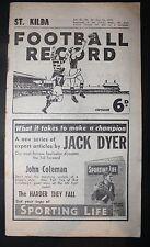 1954 Football Record St Kilda vs Footscray  Footy Record Premiers Home and Away