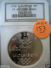 NGC PR69 UCAM 2002-P Salt Lake City  Olympics Commem. Silver $