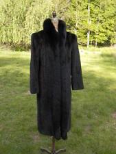Ranch Mink Corduroy Coat Black Fox Fur Tuxedo