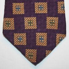 NEW Nautica Silk Neck Tie Dark Purple with Beige Pattern 857