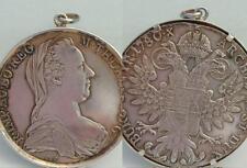 Silber Münze Anhänger  Maria Theresia Münze 1780 Sammlerstück