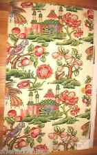 Bailey Griffin Croome Court Faux Painted Parrot Scenic Designer Fabric Sample