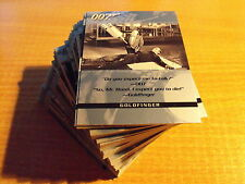 QUOTABLE JAMES BOND BASIC COMPLET LOT DE 100 CARDS