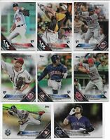2016 Topps Update (62) Card Rainbow Foil Lot Rookies All-Star Corey Seager MORE
