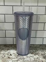NEW STARBUCKS 2019 Platinum Studded Cold Cup Tumbler WINTER HOLIDAY